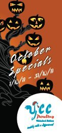 October Specials October Specials October Specials - GoHospitality