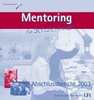 Mentoring für Schülerinnen Abschlussbericht 2003