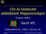 Cím és közterület adatbázisok Magyarországon