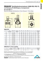 FRIALEN®-Ventilanbohrarmaturen VAM-RG/-RG-TL