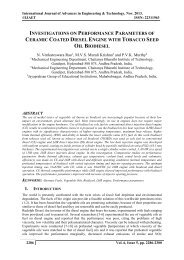 INVESTIGATIONS ON PERFORMANCE PARAMETERS OF CERAMIC COATED DIESEL ENGINE WITH TOBACCO SEED OIL BIODIESEL