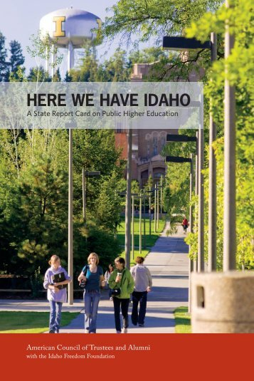 here we have idaho - The American Council of Trustees and Alumni