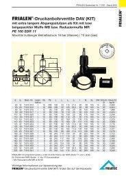 FRIALEN®-Druckanbohrventile DAV (KIT)
