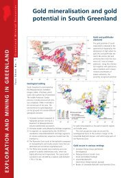 Exploration and mining in Greenland, Fact sheet 1, 2002 - GEUS