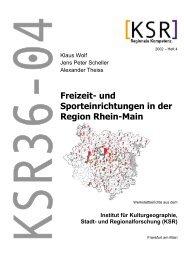 Freizeit- und Sporteinrichtungen in der Region Rhein-Main