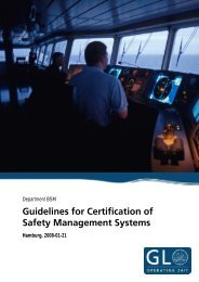 Guidelines for Certification of Safety Management Systems - GL Group