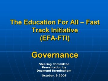 EFA-FTI - Global Partnership for Education
