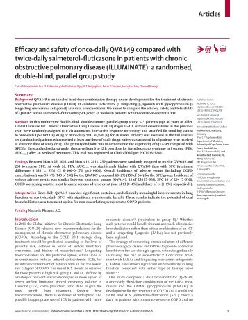 Efficacy and safety of once-daily QVA149 compared with ... - GOLD