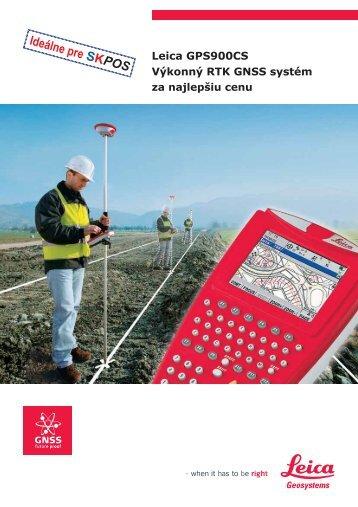 Výkonný RTK GNSS systém Leica GPS900CS - Geotech