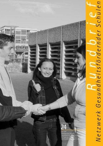 Rundbrief 24, deutsch 3 - Gesunde Schulen