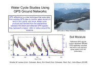 Water Cycle Studies Using GPS Ground Networks - Gfg2