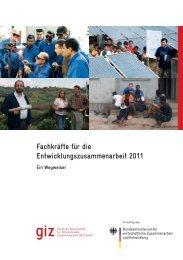 Fachkräfte für die Entwicklungszusammenarbeit - Ein ... - GIZ