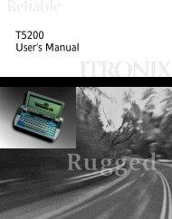 T5200 User's Manual - Itronix
