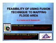 Feasibility of Using Fusion Technique to Mapping Flood Area