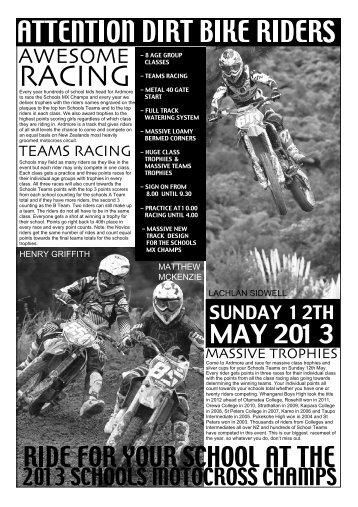 Ardmore Motocross Champs 2013 Secondary/Intermediate Schools