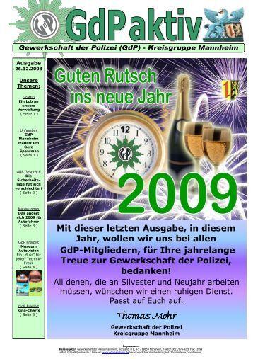 GdP aktiv Ausgabe 2008-12-26-2 - GdP Mannheim