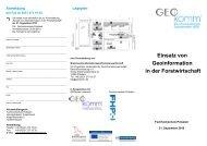 Einsatz von Geoinformation in der Forstwirtschaft - GeoBranchen