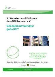 Geodateninfrastruktur goes life? - GeoBranchen