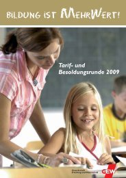 Tarif- und Besoldungsrunde 2009 - GEW