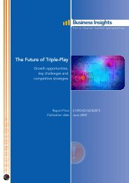 The Future of Triple-Play: Growth opportunities ... - Business Insights