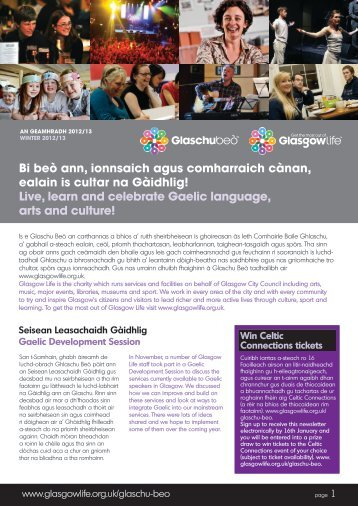 Newsletter 2013 - Glasgow Life