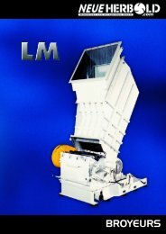 NEUE HERBOLD - Broyeurs - Granulateurs LM Series