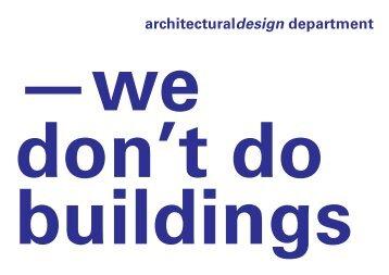 architecturaldesign department - Gerrit Rietveld Academie