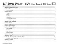 s/t small utility – suv (chevy blazer & gmc jimmy) - GM UPFITTER