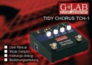 Instrukcja obsługi Tidy Chorus TCH-1 - G LAB