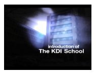 Introduction to the KDI School - GDLN Asia Pacific