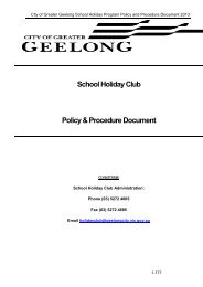 2013 Policies and Procedures PDF - City of Greater Geelong