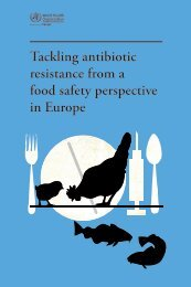 Tackling antibiotic resistance from a food safety perspective in Europe