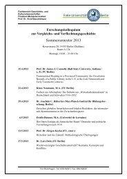 Sommersemester 2013 - Fachbereich Geschichts