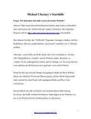 Michael Cheney Gift - Geld verdienen im Internet