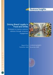 Driving Brand Loyalty in Food and Drinks - Business Insights