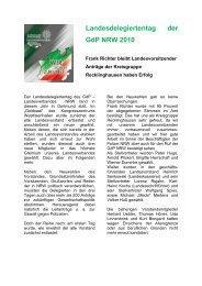 Landesdelegiertentag der - (GdP) - Kreisgruppe Recklinghausen