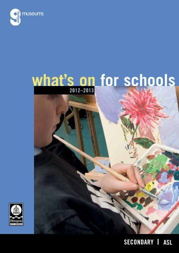 what's on for schools - Glasgow Life