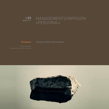 MANAGEMENTSYMPOSION »PERSONAL« - GIP Institut