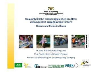 Elke Ahlsdorf, Carolin Schork: Gesundheitsförderung mit älteren ...