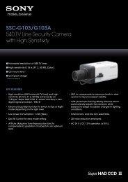 SSC-G103/G103A 540 TV Line Security Camera with High Sensitivity
