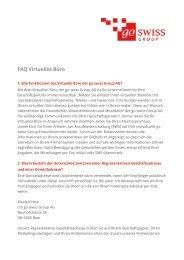 FAQ Virtuelles Büro - go swiss Group AG