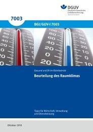 Beurteilung des Raumklimas (BGI/GUV-I 7003) - DGUV