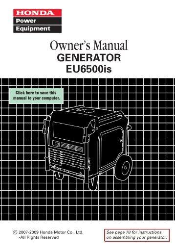 honda eu3000is generator owner s manual geotech rh yumpu com honda eu3000is service manual pdf honda eu3000is service manual pdf