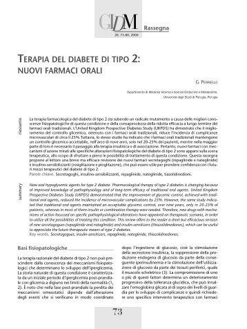 articolo completo in pdf - Giornale Italiano di Diabetologia e ...