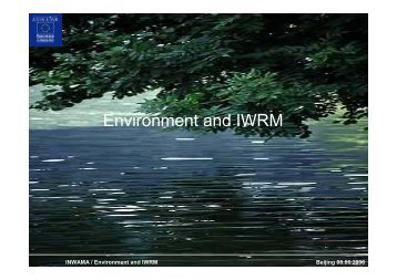 Environment and IWRM
