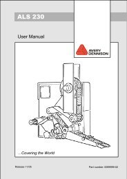 ALS-230 User Manual - Avery Dennison