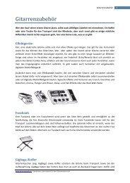 Gitarrenzubehör (PDF) - Gitarre & Musik