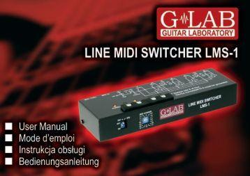 Instrukcja obsługi LINE MIDI SWITCHER LMS-1 - G LAB