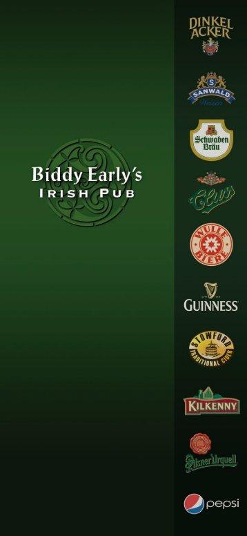 Karte - Biddy Earlys Irish Pub