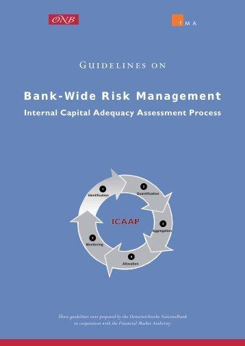 Guidelines on Bank-Wide Risk Management – Internal Capital ...